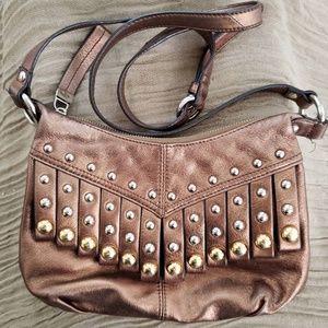 B MAKOWSKY Metallic Leather Purse